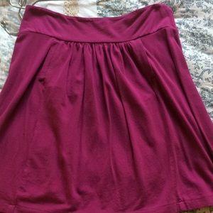 Purple J Crew cotton skirt with pockets!